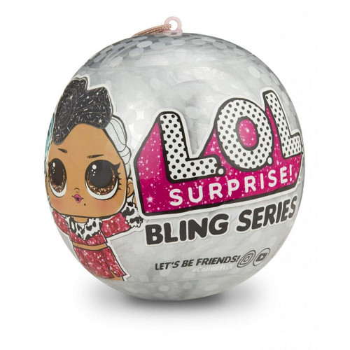 Кукла-сюрприз MGA Entertainment в шаре LOL Surprise Bling Series, 8 см