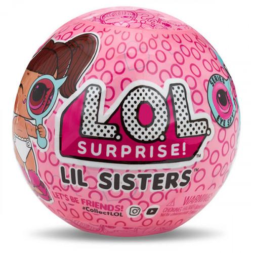 Кукла-сюрприз MGA Entertainment в шаре LOL Surprise 4 Decoder Lil Sisters, 4 см, 552147